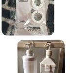 セリア『透明で目立ちにくい ボトルホルダー』