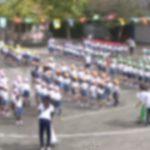 次男、幼稚園最後の運動会。